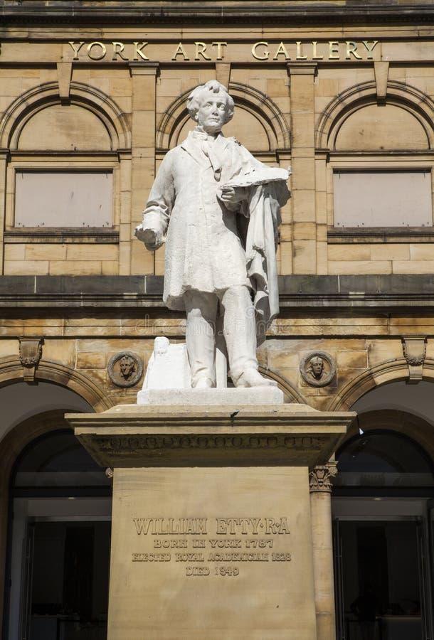 William Etty Statue et York Art Gallery photos stock