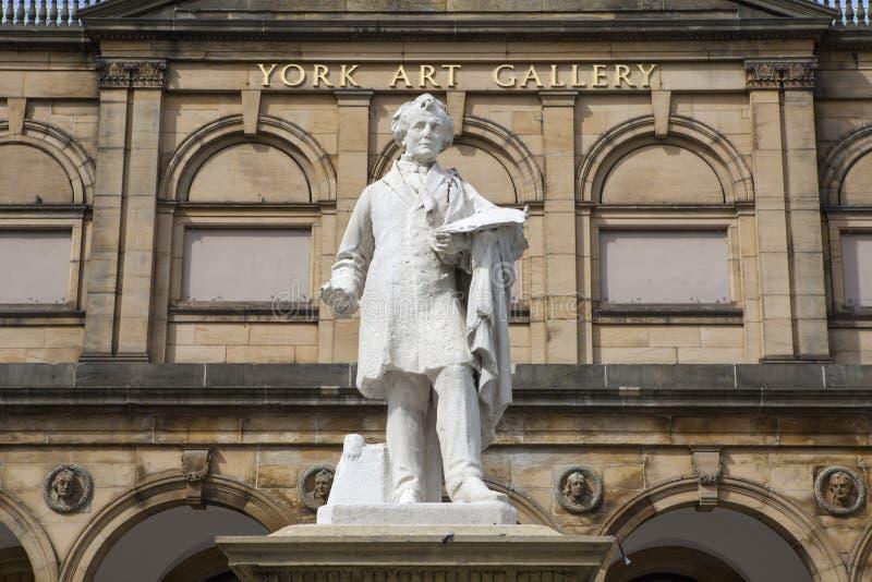 William Etty Statue a York Art Gallery fotografia stock libera da diritti