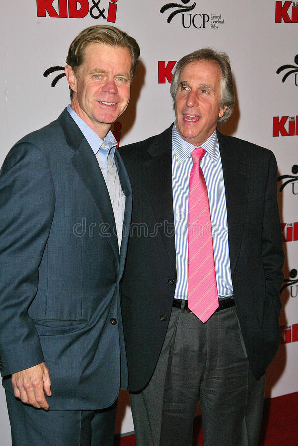 William H. Macy, Henry Winkler, William H Macy stock afbeelding