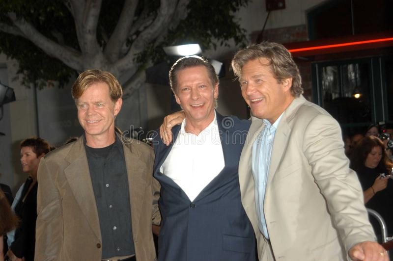 William H. Macy, tanoeiro de Chris, Jeff Bridges, William H Macy imagem de stock royalty free