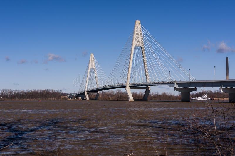 William H. Natcher Bridge - Ohio River, Kentucky & Indiana stock photography