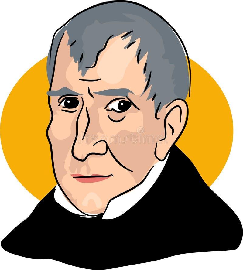 William Henry Harrison libre illustration