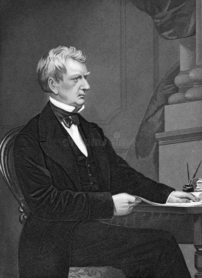 William Henry Seward royaltyfri foto