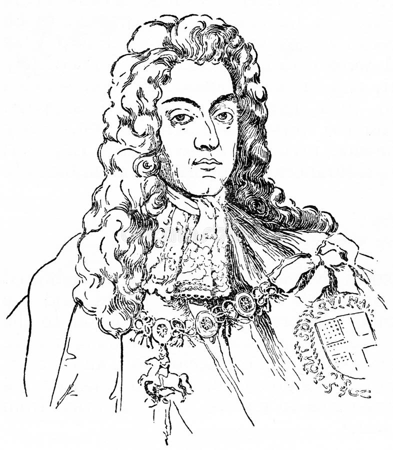 William III, also known as William of Orange. Engraving of King William III, 1650-1701 also known as William of Orange. From an original engraving in the vector illustration