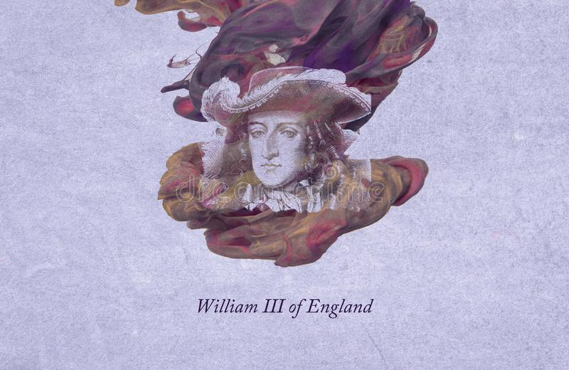 King William III of England. William III, also widely known as William of Orange, was sovereign Prince of Orange from birth, Stadtholder of Holland, Zeeland vector illustration