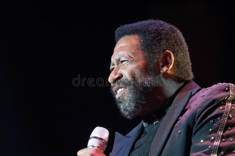 William King. CITRUS HEIGHTS, CA – September 8: William King with The Commodores performs at Sunrise Marketplace in Citrus Heights, California on royalty free stock photos