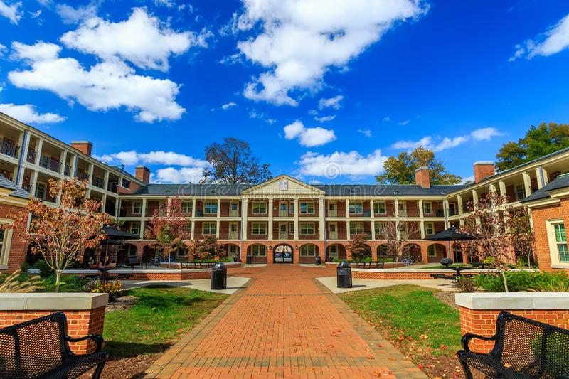 William L. Poteat House at Wake Forest University. WINSTON-SALEM, NC, USA: William L. Poteat House on October 26, 2019 at Wake Forest University in Winston-Salem stock images