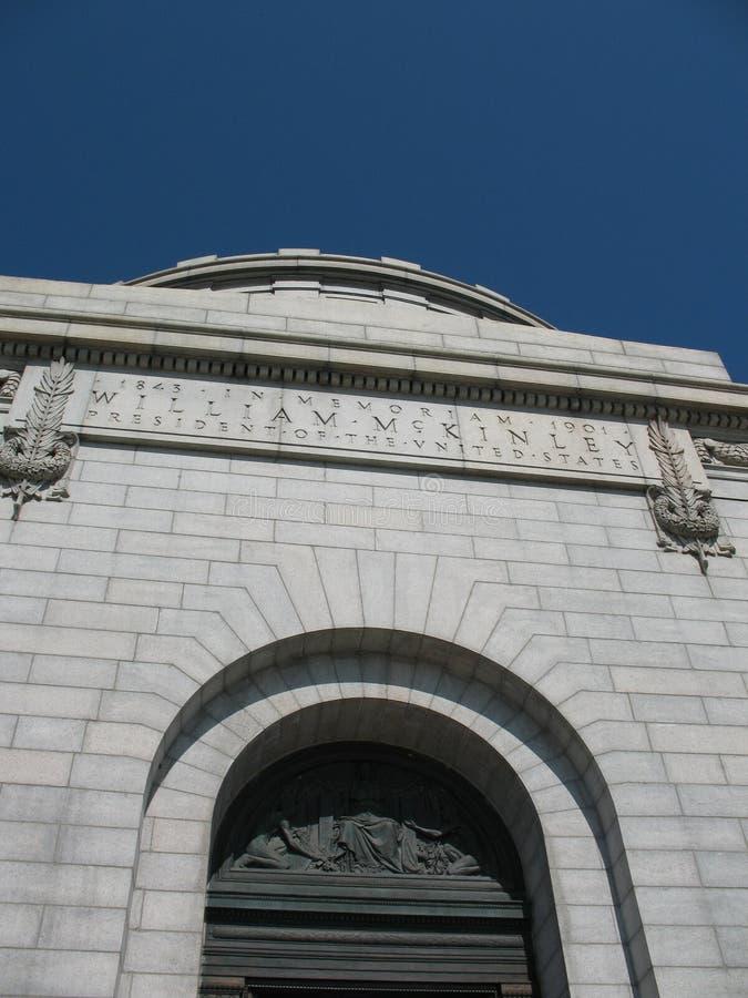 William McKinley Monument stock photo