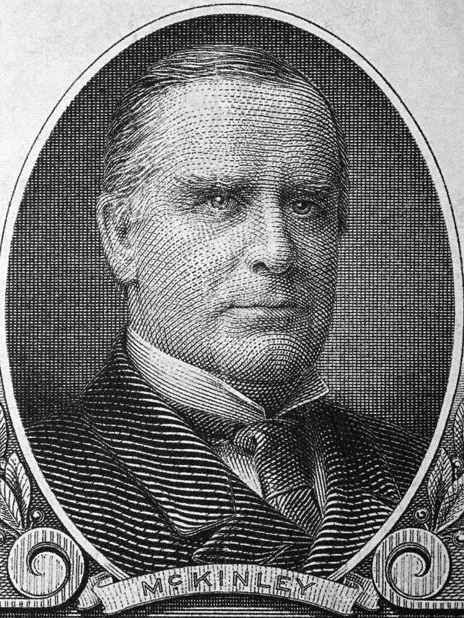 William McKinley retrato de los viejos dólares americanos imagen de archivo libre de regalías