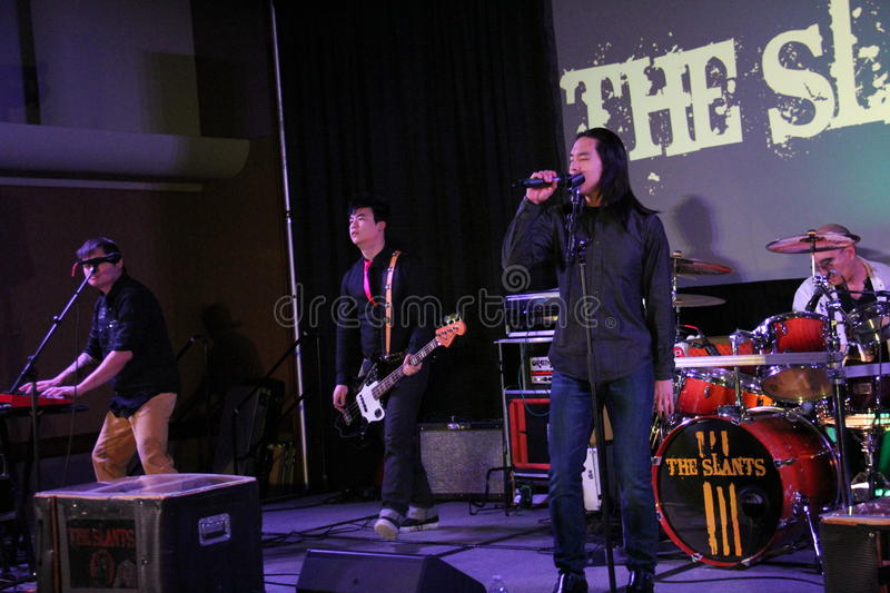 William Moore. A member of the Slants at the NewCon Convention at Double Tree . 1,2,2015 stock images