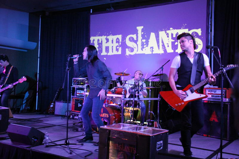 William Moore. A member of the Slants at the NewCon Convention at Double Tree . 1,2,2015 stock photo