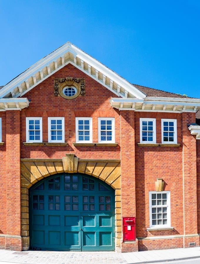 William Morris et garage de longue taille photographie stock libre de droits