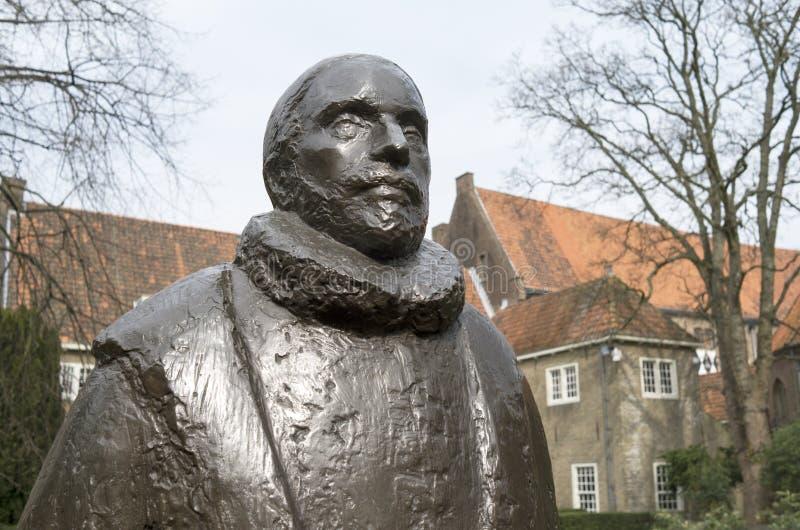 William of Orange in the garden of museum Prinsenhof. stock photos