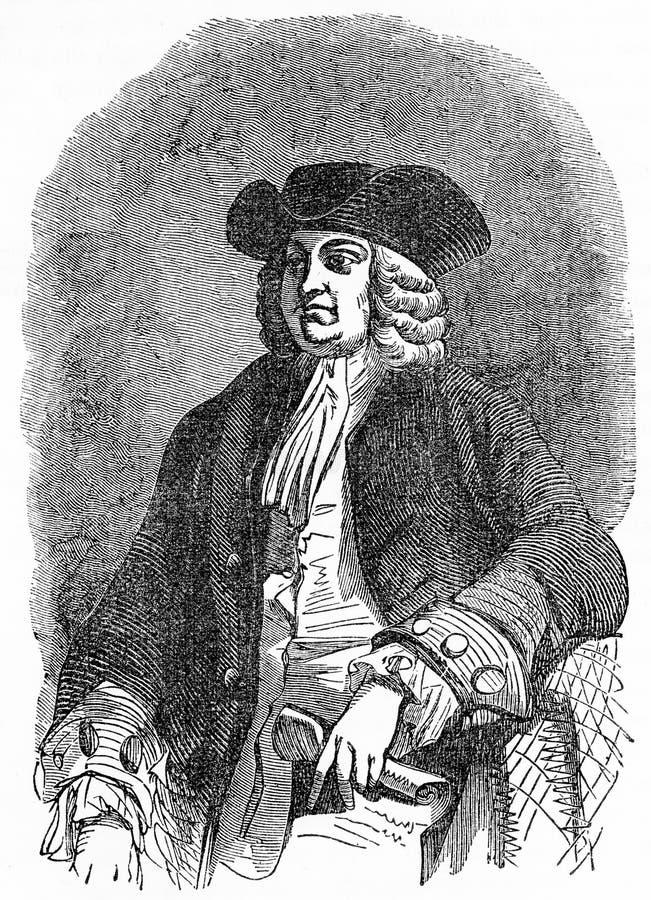 William Penn, fundador do estado de Pensilvânia ilustração stock