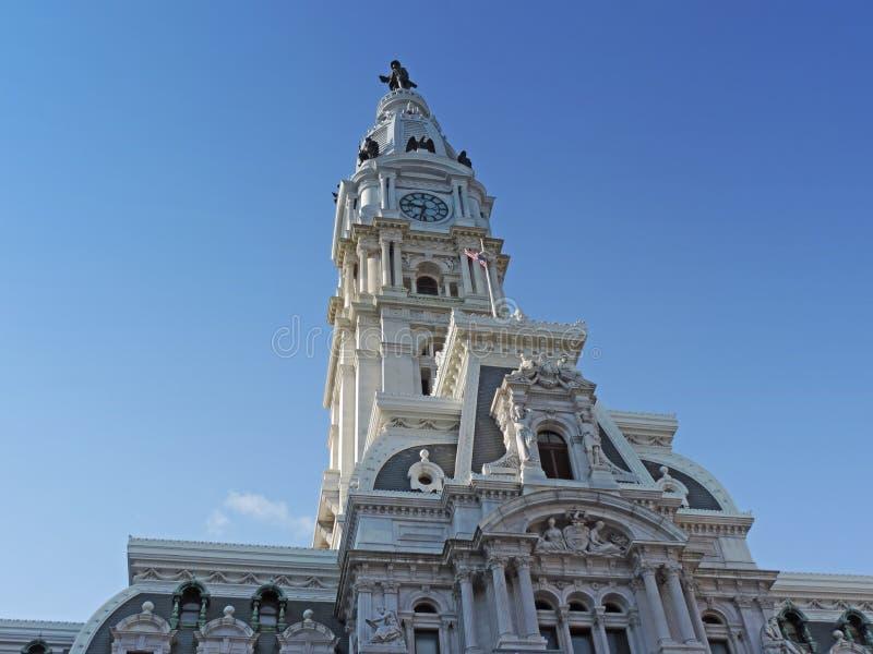 William Penn Philadelphia. The famous William Penn statue atop the Philadelphia city hall royalty free stock image