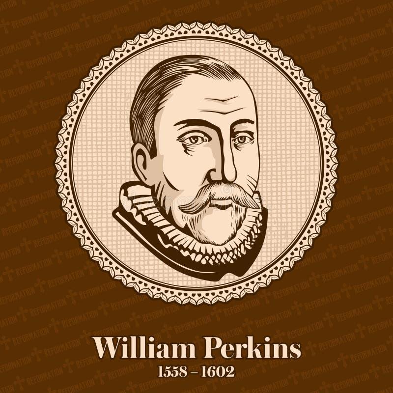 """William Perkins †1558 """"1602 var en inflytelserik engelsk prästman och Cambridge teolog och en också av de främsta ledarna stock illustrationer"""