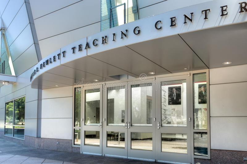 William R. Hewlett Teaching Center at Stanford University. STANFORD, UNITED STATES - July 6: The William R. Hewlett Teaching Center on the campus of at Stanford stock photos