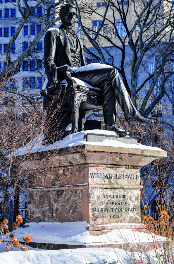 William Seward statua, NYC obrazy stock