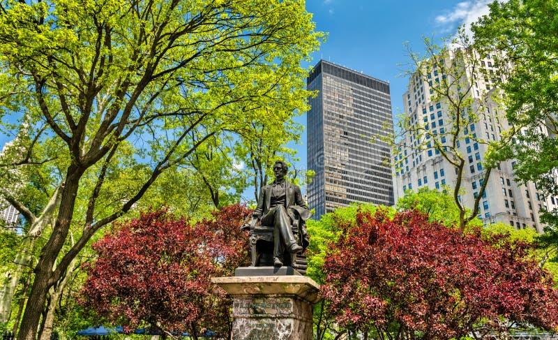 William Seward Statue en Madison Square Park en Manhattan, New York City fotos de archivo libres de regalías
