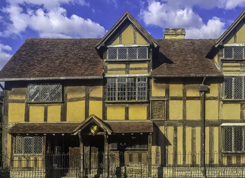 William Shakespeare's Birthplace - Henley Street, Stratford-upon-Avon, Warwickshire, UK. William Shakespeare's Birthplace - 16th-century half royalty free stock images