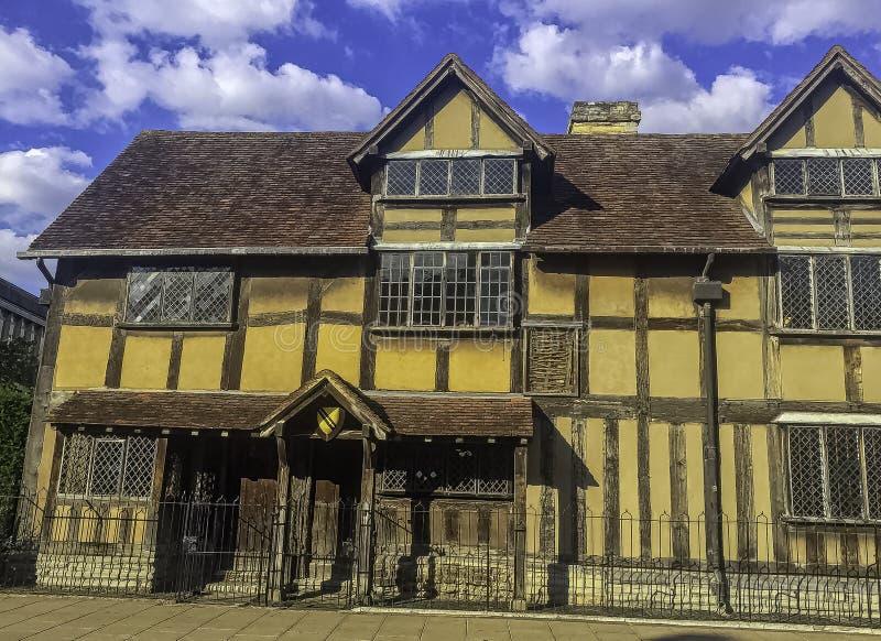 William Shakespeare's miejsce narodzin Henley ulica, Avon, Warwickshire, UK - xvi wiek ryglowy dom - fotografia stock