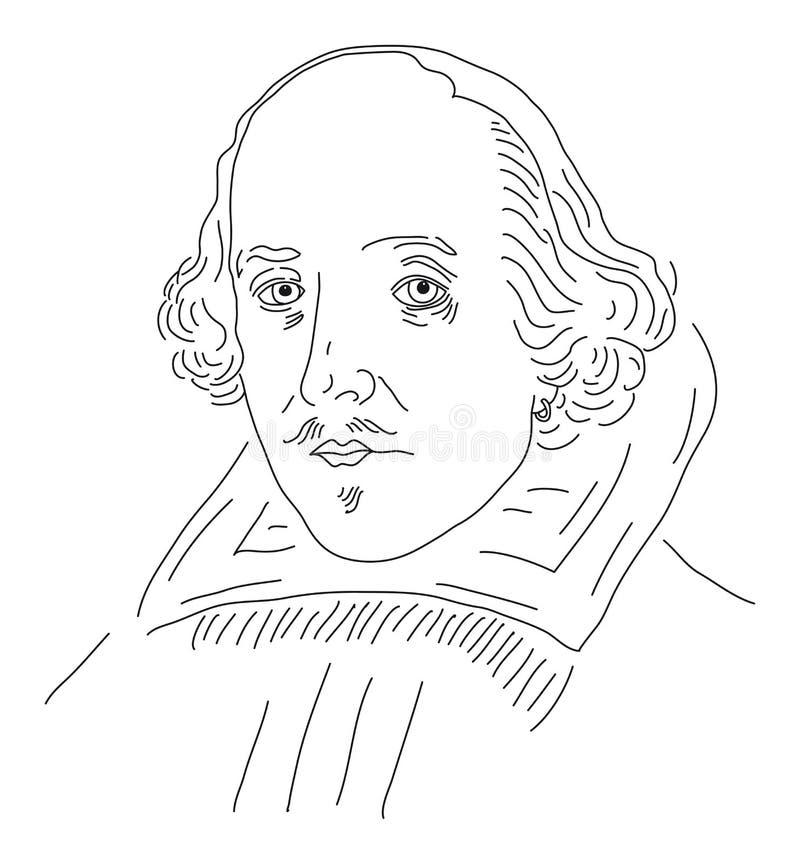 William Shakespeare illustrazione di stock
