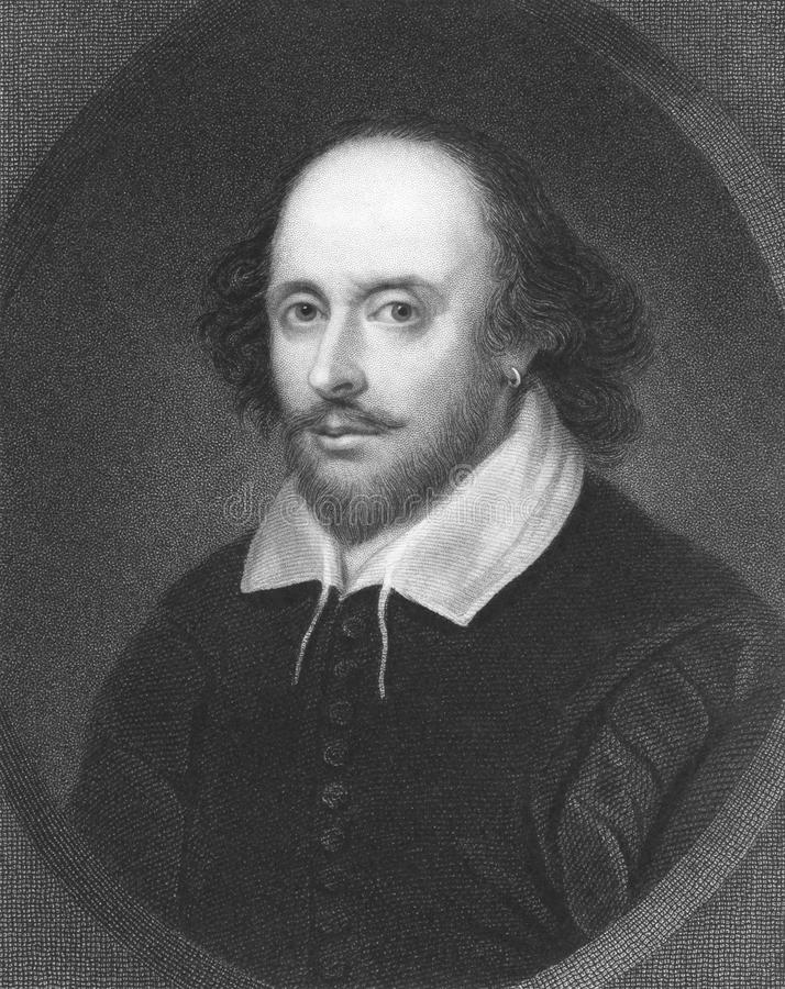 William Shakespeare fotografie stock