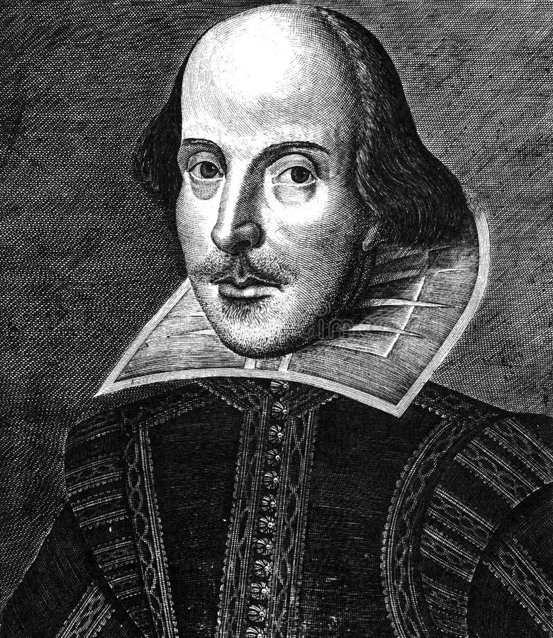 William Shakespeare stock image