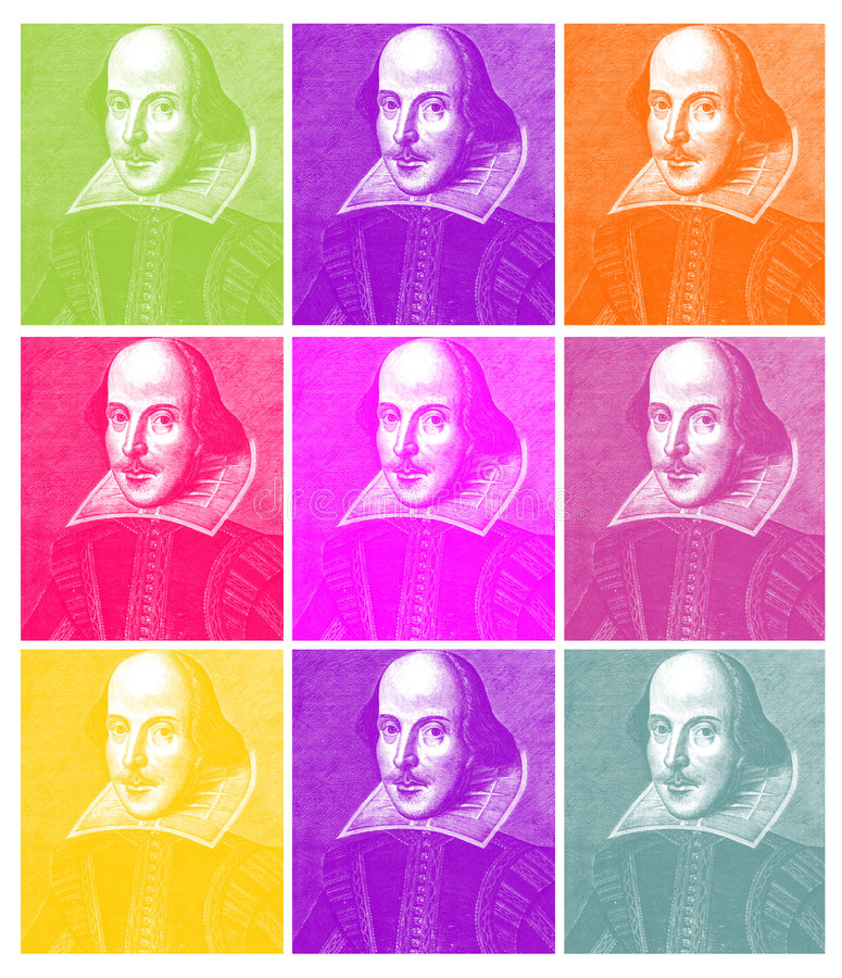 William Shakespeare Engraving stock photo
