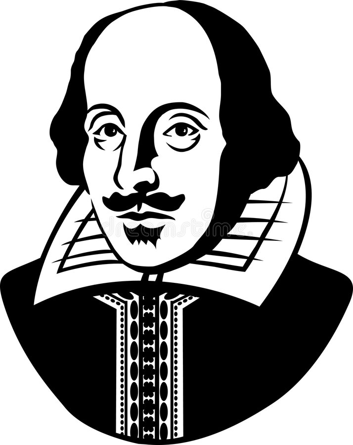 William Shakespeare/eps stock illustratie