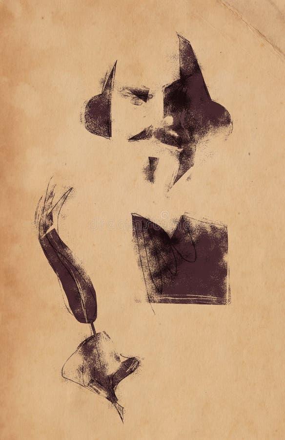 William Shakespeare Illustration royalty free illustration