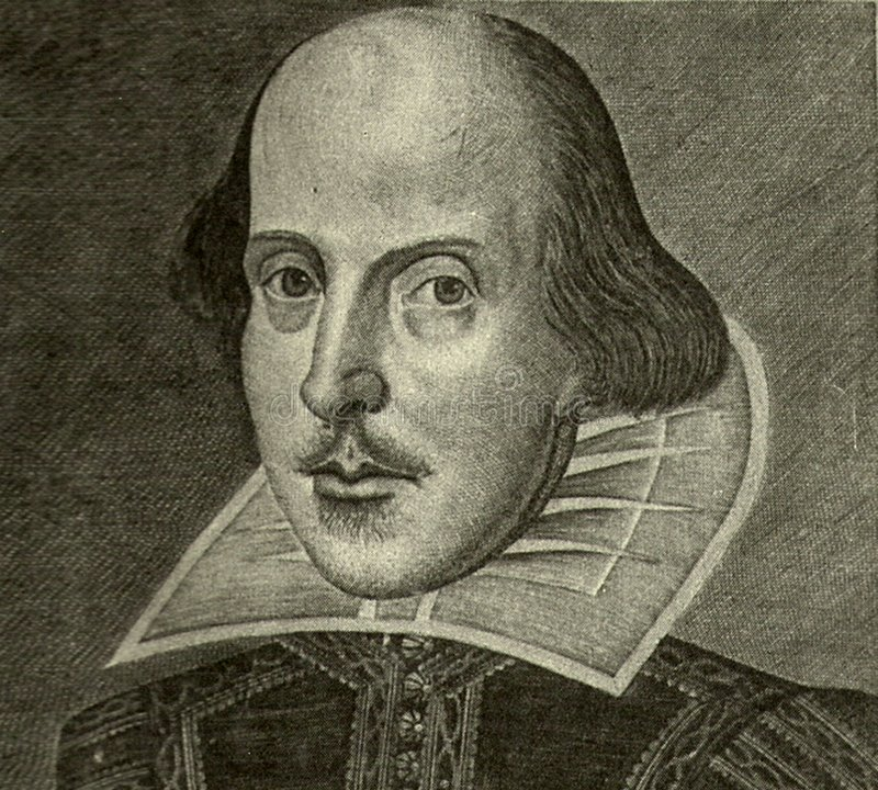 William Shakespeare portrait royalty free stock image