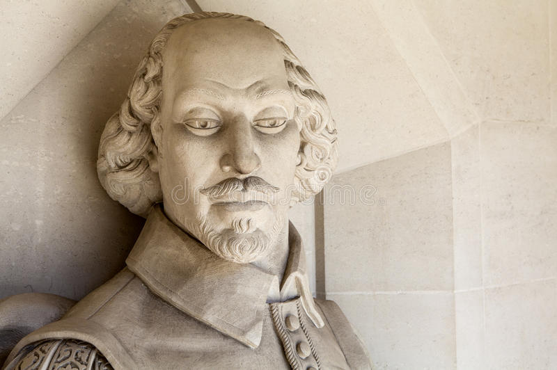 William Shakespeare Sculpture in Londen stock afbeeldingen