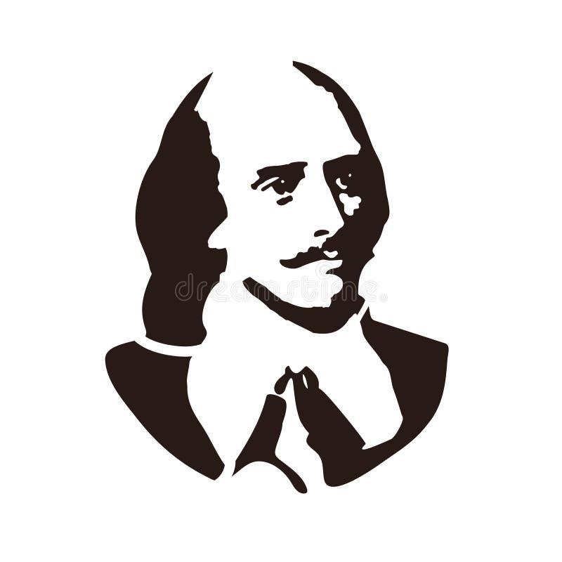 William Shakespeare Un poeta, un dramaturgo, y un actor ingleses stock de ilustración
