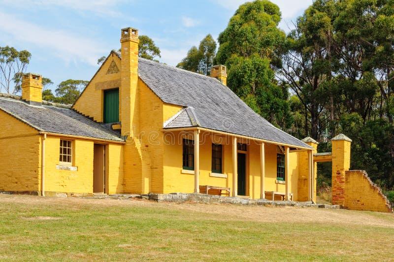 Smith O'Brien's Cottage - Port Arthur. William Smith O'Brien's Cottage at the Port Arthur Historic Site - Tasmania, Australia, 7 February stock photo