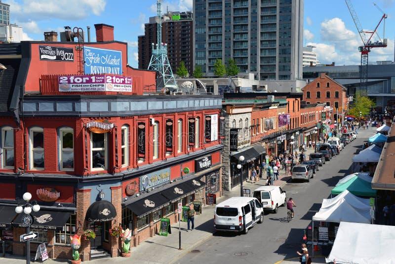 William Street in Ottawa royalty free stock photo