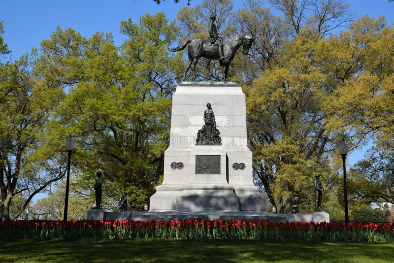 William Tecumseh Sherman Monument in Washington, DC. (USA royalty free stock photo