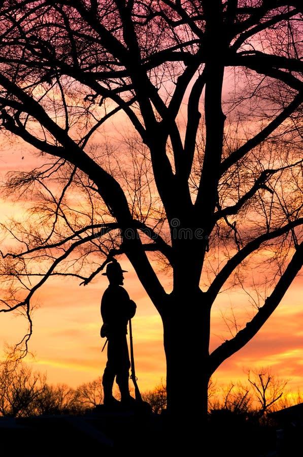 Download William Tecumseh Sherman Statue Silhouette Stock Photo - Image of blazing, plants: 23077034