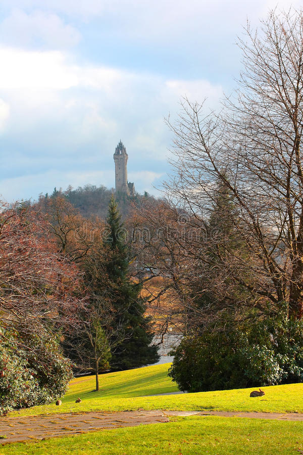 William Wallace Monument, Stirling, Scotland royalty free stock photos