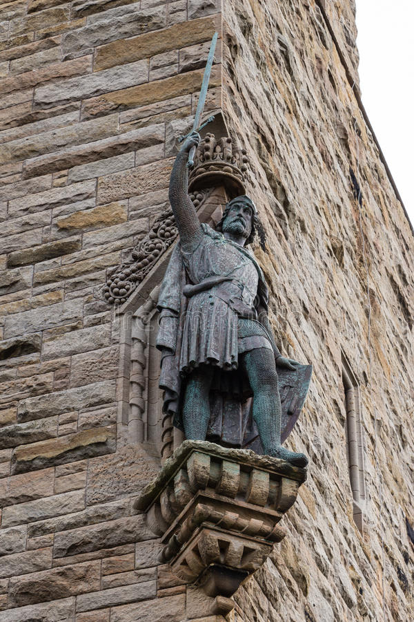 William Wallace statue at The National Wallace Monument in Stirling, Scotland royalty free stock photos