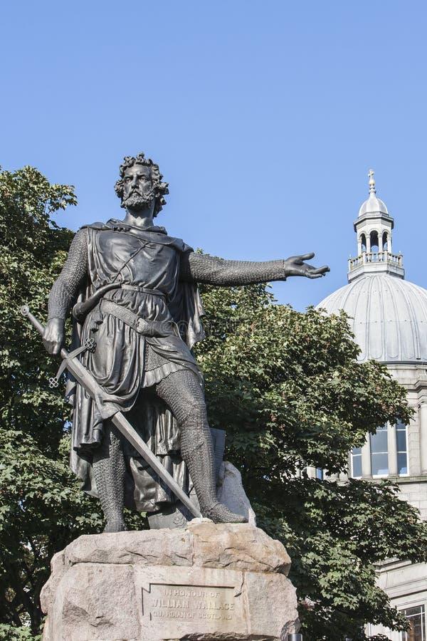 William Wallace staty i Aberdeen, Skottland royaltyfri bild