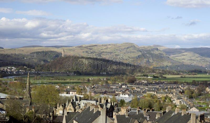 William Wallace torn ovanför Stirling, Skottland royaltyfri bild