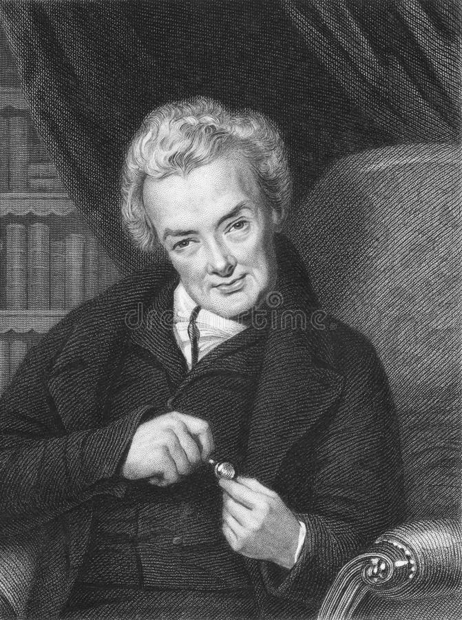 William Wilberforce. (1759-1833) on engraving from the 1800s. British politician, a philanthropist and a leader of the movement to abolish the slave trade royalty free stock image