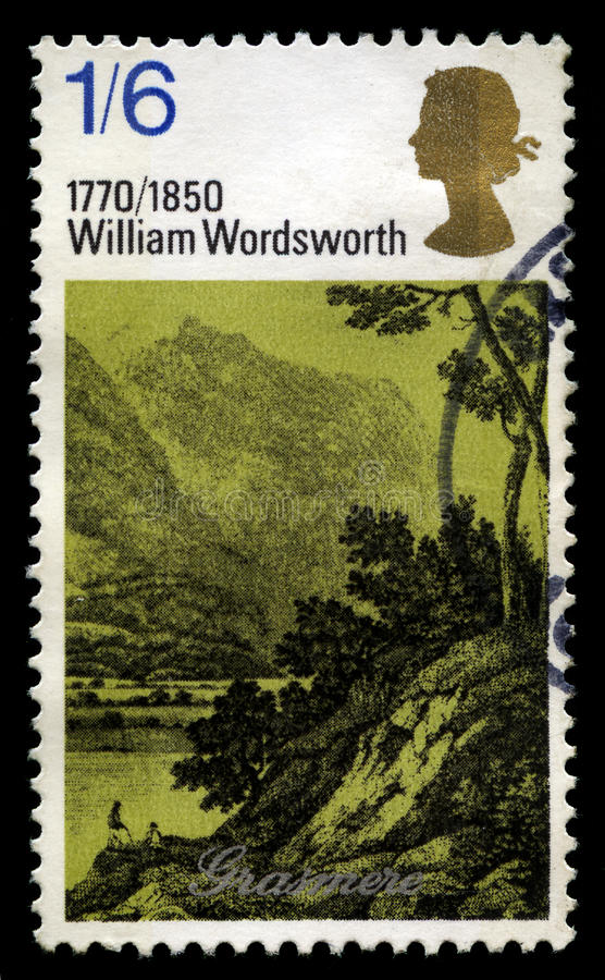 William Wordsworth UK portostämpel arkivfoto