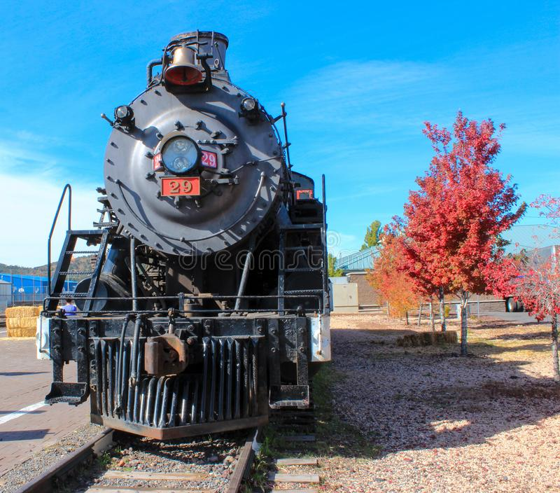 Williams, Arizona / USA - October 06 2012: View of Steam Locomotive of Grand Canyon Express. Which heads to Grand Canyon stock photo