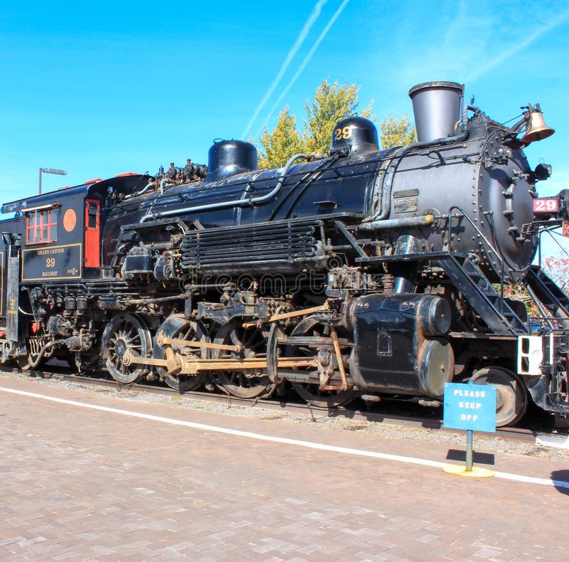 Williams, Arizona / USA - October 06 2012: View of Steam Locomotive of Grand Canyon Express. Which heads to Grand Canyon stock image
