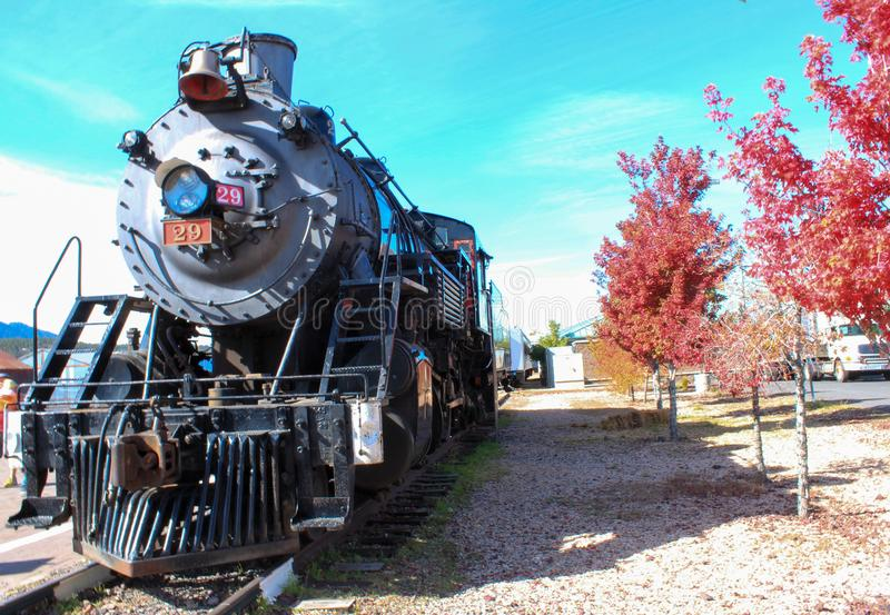 Williams, Arizona / USA - October 06 2012: View of Steam Locomotive of Grand Canyon Express. Which heads to Grand Canyon stock images