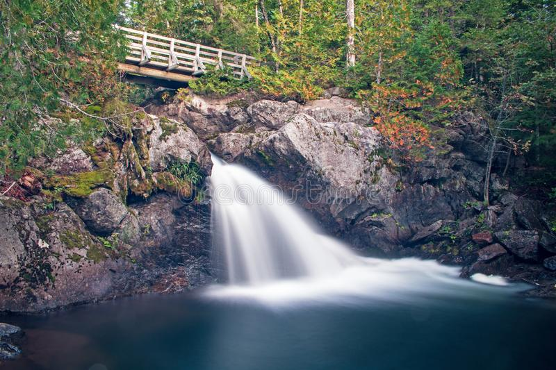 Williams Brook Falls At Mount Carleton Provincial Park. A small but stunning waterfall on Williams Brook in Mount Carleton Provincial Park in the Canadian stock photo