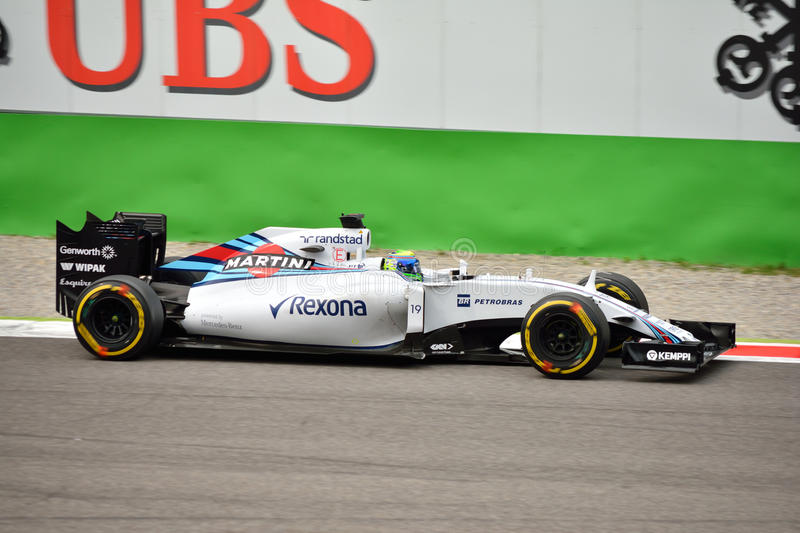 Williams FW37 F1 jadący Felipe Massa przy Monza fotografia royalty free