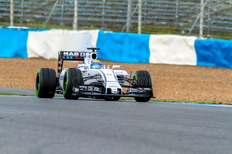 Williams Martini Racing F1 lag, Felipe Massa, 2015 arkivfoto